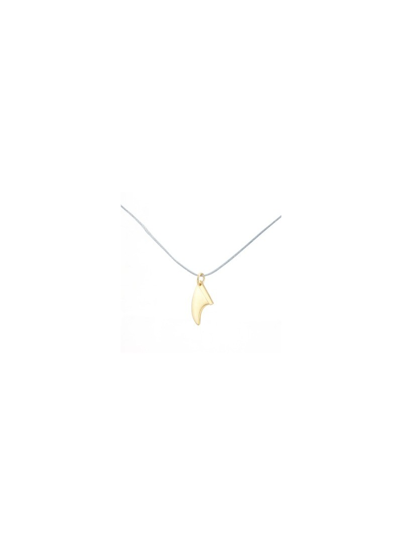 S Fin Bracelet or Necklace- Gold Plated