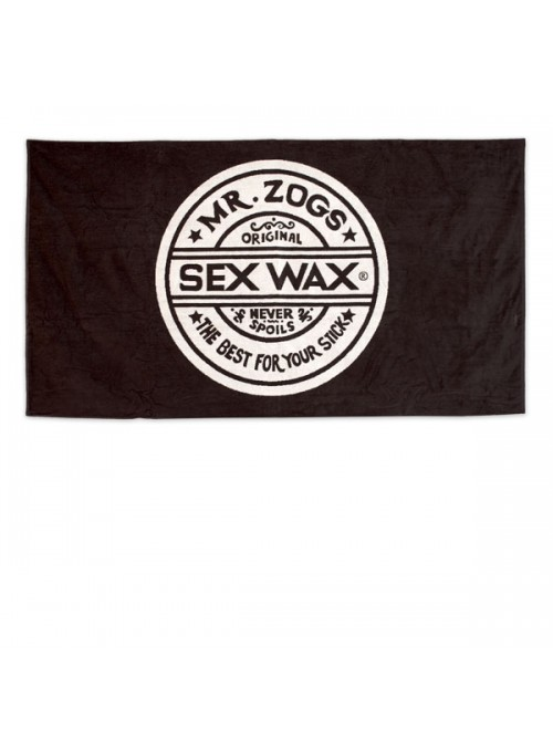 Sex Wax Beach Towel Black